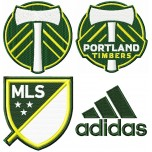 Portland Timbers logo machine embroidery design for instant download