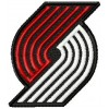 Portland Trail Blazers logo machine embroidery design for instant download