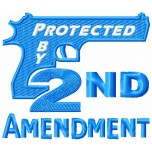 Protected by 2nd amendment machine embroidery design for instant download