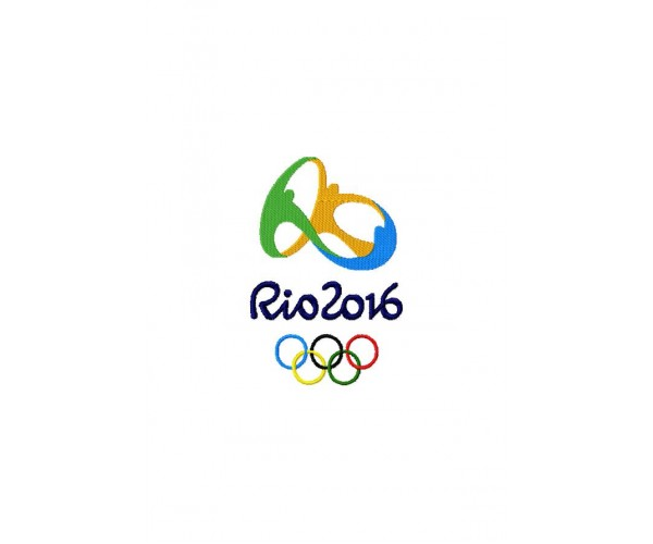 Logo Olympic Games Rio 2016 Machine Embroidery Design For