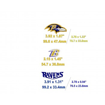 Baltimore Ravens logo machine embroidery designs for instant download