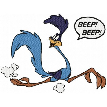 Road Runner cartoons machine embroidery design for instant download