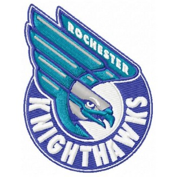 Rochester Knighthawks logo machine embroidery design for instant download