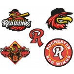 Rochester Red Wings logo machine embroidery design for instant download