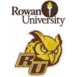 Rowan University Owl logo machine embroidery design for instant download