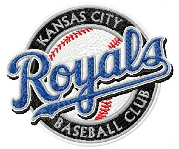 kansas city royals logo machine embroidery design for