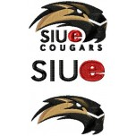 SIU Edwardsville Cougars logo machine embroidery design for instant download