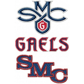 Saint Marys Gaels logos machine embroidery design for instant download