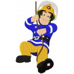 Sam the Fireman machine embroidery design for instant download