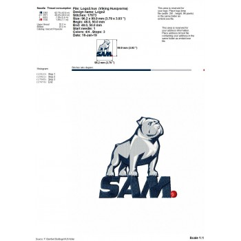 Samford Bulldogs logos machine embroidery design for instant download
