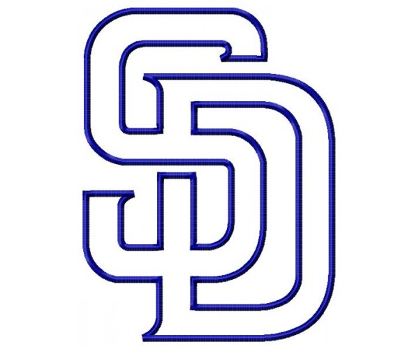 san diego padres logos machine embroidery design for