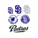 San Diego Padres logos machine embroidery design for instant download