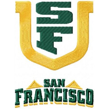 San Francisco Dons logo machine embroidery design for instant download