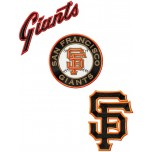 San Francisco Giants 3 logos machine embroidery designs for instant download