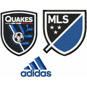 San Jose Earthquakes logo machine embroidery design for instant download