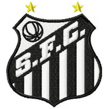 Santos FC logo machine embroidery design for instant download