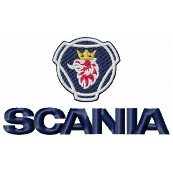 Scania trucks logo machine embroidery design for instant download