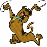 Scooby doo Happy machine embroidery design for instant download