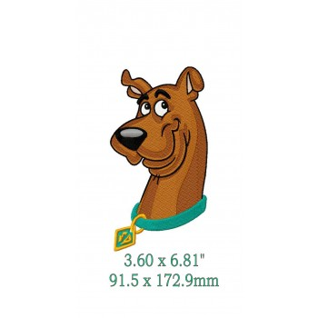 Scooby doo-sweet portrait Machine Embroidery Design for instant download