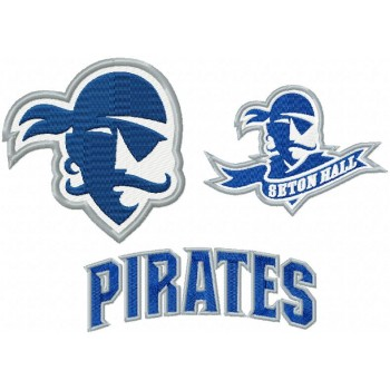 Seton Hall Pirates logo machine embroidery design for instant download