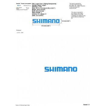 Shimano logos machine embroidery design for instant download