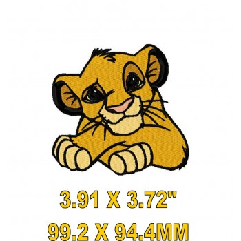 Simba-Lion Kiing hero machine embroidery design for instant download