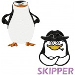 Penguins of Madagascar Skipper machine embroidery design for instant download
