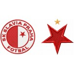 Slavia Praha logos machine embroidery design for instant download