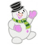 Snowman machine embroidery design for instant download