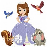 Sofia the First machine embroidery design for instant download