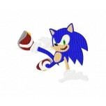 Sonic machine embroidery design for instant download