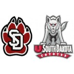 South Dakota Coyotes logos machine embroidery design for instant download