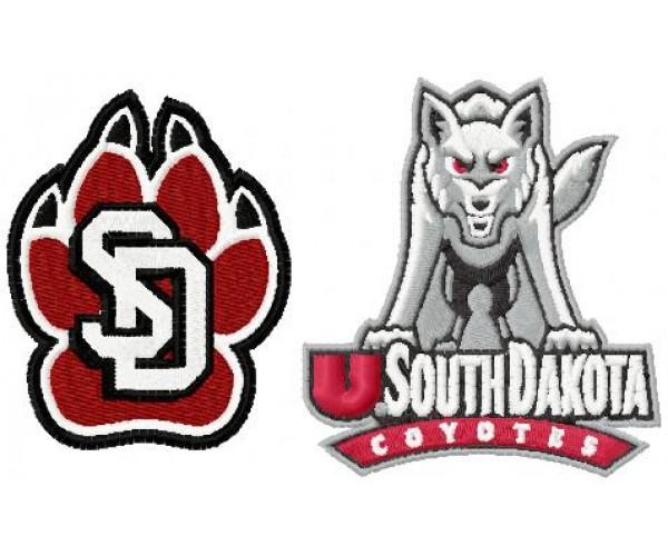 South Dakota Coyotes Logos Machine Embroidery Design For Instant