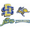 South Dakota State Jackrabbits logo machine embroidery design