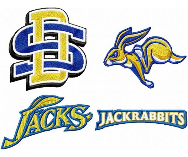 South Dakota State Jackrabbits Logo Machine Embroidery Design