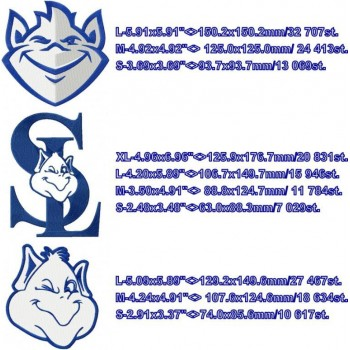 St.Louis Billikens logo machine embroidery design for instant download