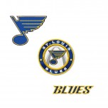 St. Louis Blues 3 logos machine embroidery design for instant download