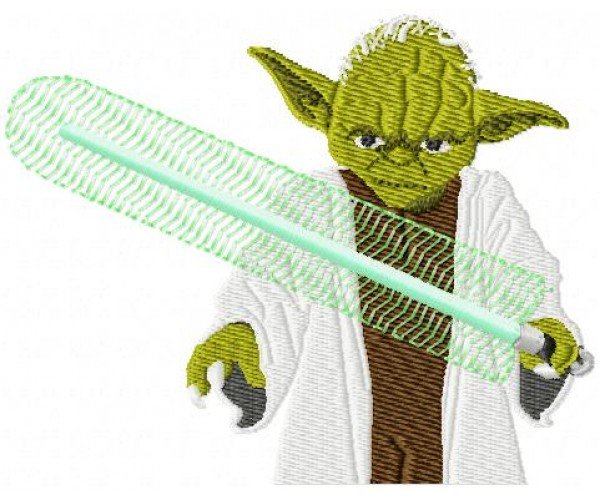 Star wars yoda machine embroidery design for instant download