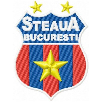 FC Steaua Bucharest logo machine embroidery design for instant download