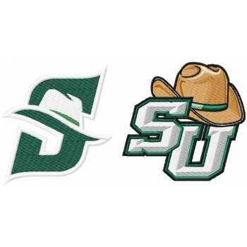 Stetson Hatters logo machine embroidery design for instant download