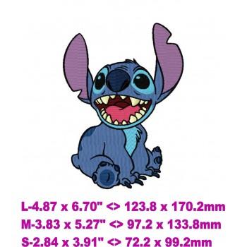 Stitch (Lilo & Stitch) machine embroidery design for instant download