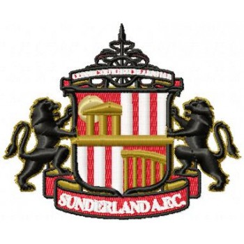 Sunderland AFC logo machine embroidery design for instant download