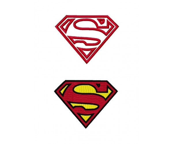 Superman logo machine embroidery design for instant download