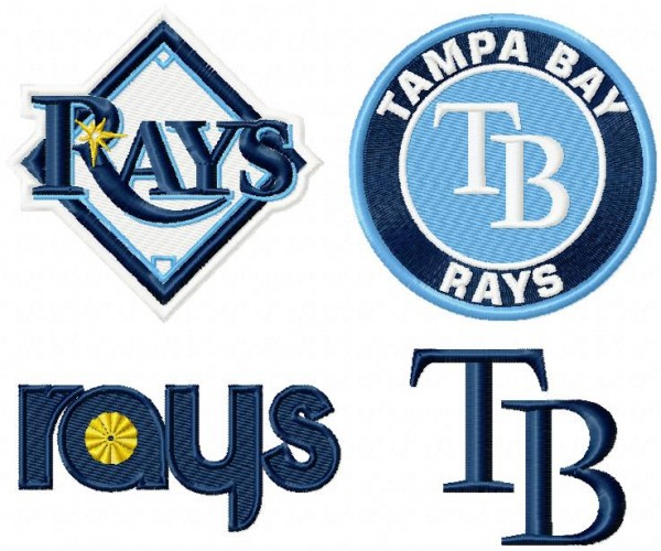 Tampa Bay Rays Logo Machine Embroidery Design For Instant Download