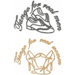 Tango for real people shoes machine embroidery design for instant download