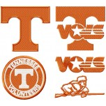 Tennessee Volunteers Logo machine embroidery design for instant download