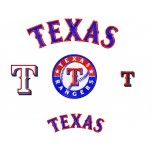 Texas Rangers logo machine embroidery design for instant download