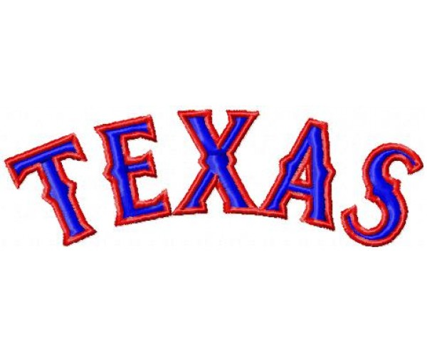 Texas rangers logo machine embroidery design for instant