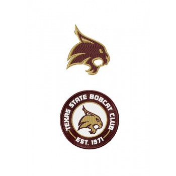 Texas State Bobcat logo machine embroidery design for instant download