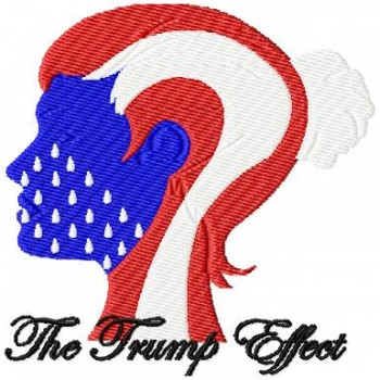 The Trump Effect machine embroidery design for instant download